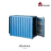 Alvarez工業風仿舊貨櫃造型對開置物櫃/收納櫃【DD House】OCSB-00009