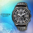 CITIZEN 星辰手錶專賣店 CA0375-00E 男錶 Eco-Drive光動能 原廠皮革錶帶 強化礦物玻璃 防水100米 日期