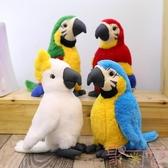 仿真鳥兒金剛鸚鵡公仔毛絨玩具擺件玩偶【聚可愛】