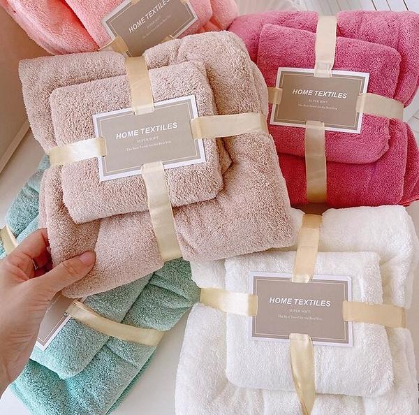 浴巾 毛巾浴巾二件套可愛大號洗臉家用吸水洗臉巾學生宿舍手巾洗澡方巾【快速出貨八折特惠】