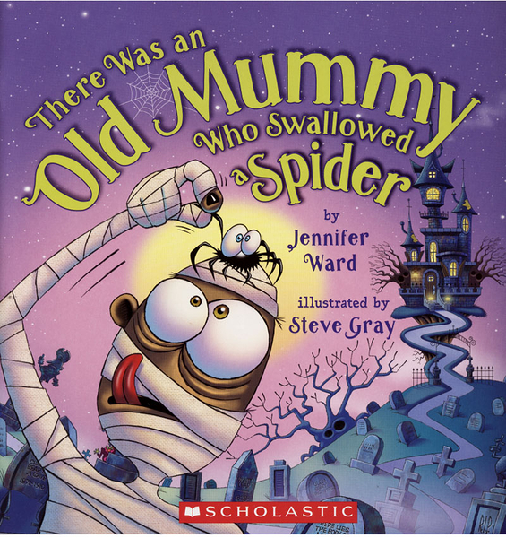 【麥克書店】THERE WAS AN OLD MUMMY WHO SWALLOWED A SPIDER/ 平裝繪本《主題: 萬聖節》