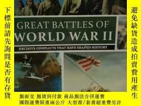 二手書博民逛書店圖說二戰經典戰役罕見Great Battles Of War I