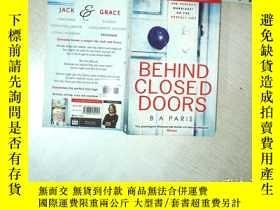 二手書博民逛書店BEHIND罕見CLOSED DOORS 在緊閉的門後 32開 01Y261116
