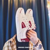 情侶款小白鞋男士學生夏季百搭韓版潮流帆布鞋ulzzang原宿板鞋子