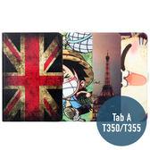 三星 Tab A 8.0 / T350 / T355C 絲雅系列 彩繪卡通 側翻皮套 支架 平板套 平板皮套 皮套