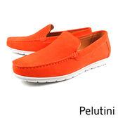 【Pelutini】素面經典休閒鞋 閃酷橘(7812-ORS)