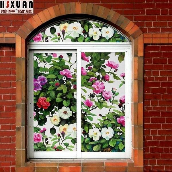 窗貼 玻璃貼紙窗貼窗紙浴室門玻璃貼膜衛生間窗戶貼紙窗花紙透光不透明 萬寶屋