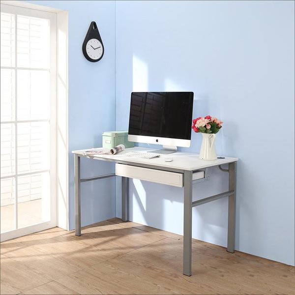 【澄境】I-B-DE044WH-DR 低甲醛仿馬鞍皮120公分雙抽屜穩重型工作桌