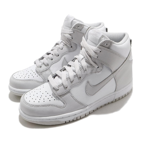 Nike 休閒鞋 Dunk High GS Vast Grey 白 灰 高筒 女鞋 大童鞋【ACS】 DB2179-101