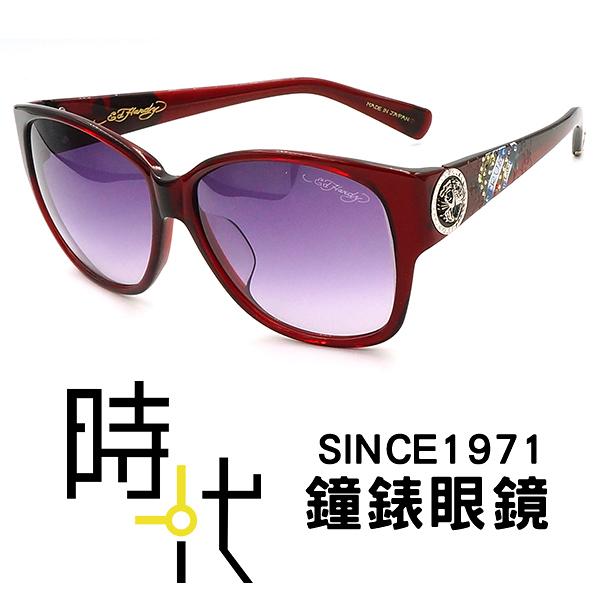 【台南 時代眼鏡 ED Hardy】墨鏡太陽眼鏡 EH1006 RED 美式潮流x日本工藝