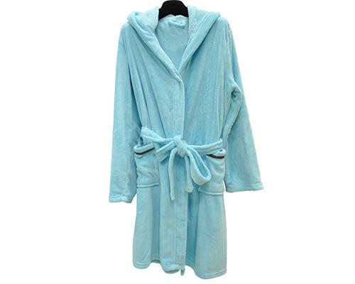 輕柔附帽吸水浴袍 海洋藍|吸水浴袍 浴袍 飯店浴袍 睡浴袍【mocodo 魔法豆】