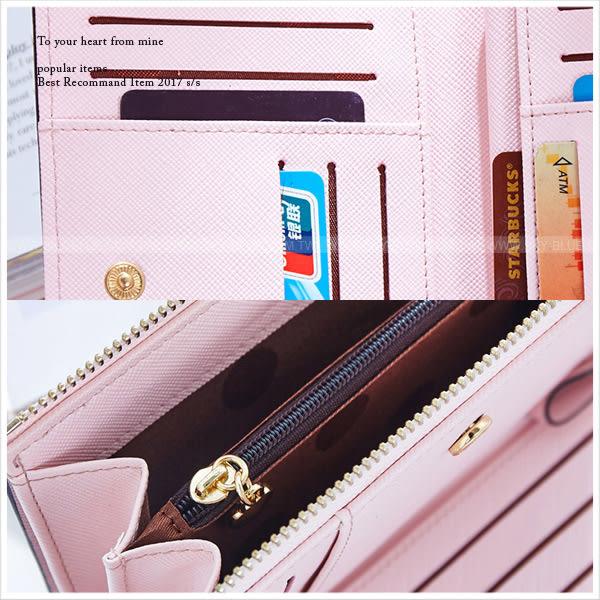 皮夾-韓版簡約好感繽紛中夾/票卡包-共3色-A08080667-天藍小舖