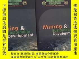 二手書博民逛書店Mining罕見Sustainable Development—