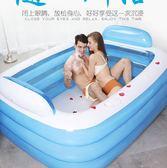 1.3米充氣浴缸雙人超大家用成人浴盆兒童加厚折疊浴盆泡澡桶 XY1093 【男人與流行】