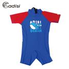ADISI 兒童連身短袖短褲防磨衣AR1713135 (90-110cm) / 城市綠洲 (防曬、防水母、浮潛、水上活動)