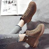 秋季2018新款ins馬丁靴女短筒英倫風學生韓版百搭網紅chic小短靴