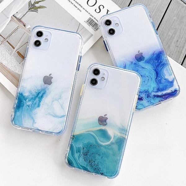 透明漸變大理石紋XR蘋果11手機殼iphone12硅膠11pro max潮男12pro女款X/Xsmax 晴天時尚