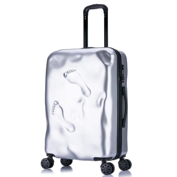 嘻哈個性復古破損拉桿箱萬向輪男女行李箱凹凸登機箱超輕旅行箱子