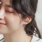 銀致S925銀耳環女韓國氣質長款吊墜簡約百搭網紅冷淡風個性耳墜   初見居家