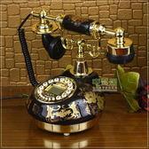 /TQJ陶瓷復古電話機/仿古電話機/黑色經典固定電話座機 生活樂事館