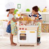 *babygo*德國Hape愛傑卡-角色扮演廚房系列大型廚具台(白色)