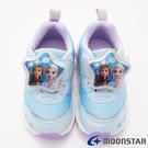 日本月星頂級童鞋 冰雪奇緣2.0聯名電燈鞋 ON2509藍(中小童段)