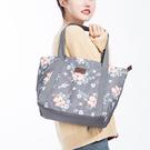 可愛印花肩背手提包 收納包 大容量 旅行袋 收納袋 購物袋 出國 旅遊【X012】生活家精品