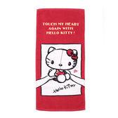 HELLO KITTY TOUCH毛巾 紅 鞋全家福