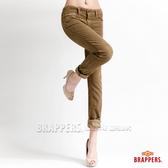 BRAPPERS Boy Friend Jeans系列-條絨反摺直筒褲-淺綠