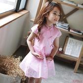 兒童裝女童旗袍連身裙1歲半民族風2女寶4紗裙3女寶寶天  居家物語