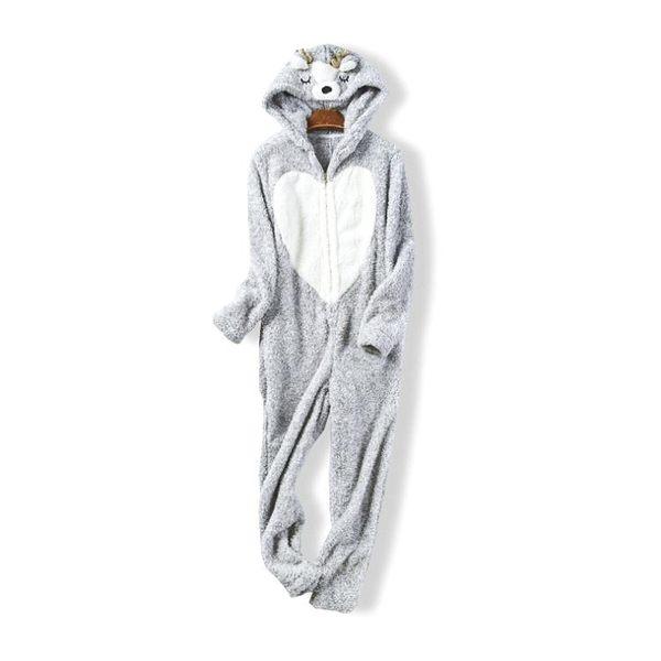 39665 新款立体卡通造型珊瑚绒连体衣家居服女秋冬保暖睡衣