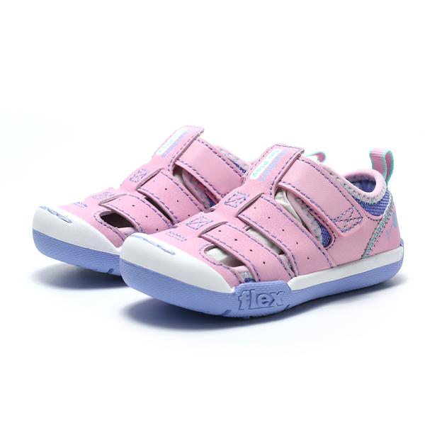 SKECHERS FlexPlay 童 涼鞋 粉色鞋面紫色底 (布魯克林) 2019/4月 82166NPKLV