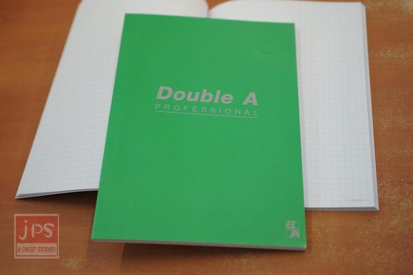 Double A A5 25K 膠裝筆記本 辦公室系列 (綠-方格)
