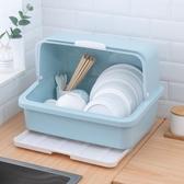 碗架 廚房碗櫃大號放碗筷收納盒家用餐具碗盤置物架防塵加厚塑料瀝水籃【幸福小屋】