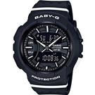 BGA-240-1A1 黑 BABY-G 慢跑運動時尚腕錶