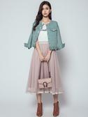 秋冬單一特價[H2O]口袋縫珠設計水洗牛仔外套 -桔/綠/米白色 #9663005