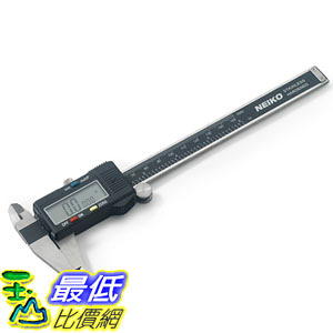 [美國直購] Neiko 01407A Stainless Steel 6-Inch Digital Caliper LCD Screen SAE-Metric Conversion 數字卡尺