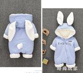 男女寶寶0一1歲嬰兒衣服加厚連體衣嬰幼兒冬季外出抱衣zzy7954『時尚玩家』