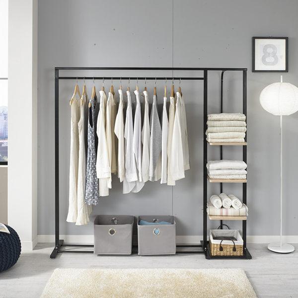 落地衣架臥室衣帽架收納簡約掛衣服架衣櫃簡易現代家用鐵藝涼衣架特惠免運