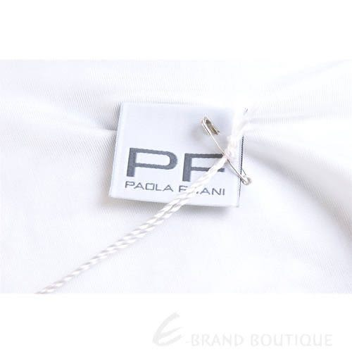 PAOLA FRANI 花朵彩繪V領短袖上衣(白色) 1220040-20