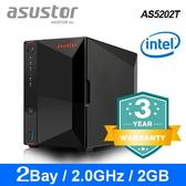 【asustor 華芸】AS5202T 2Bay NAS網路儲存伺服器(不含硬碟)