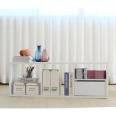 台灣製 布拉格3格收納系統櫃 白色 書櫃 展示架 展示櫃 收納櫃 電視櫃《Life Beauty》