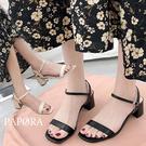PAPORA顯高細版粗跟休閒跟鞋涼拖鞋KK7416