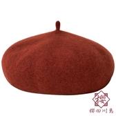 貝雷帽羊毛女英倫復古日系復古百搭八角帽冬季【櫻田川島】