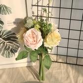 假花 網紅玫瑰花束仿真花干花家居客廳臥室裝飾花拍照道具假花餐桌擺件 新年提前熱賣