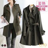 外套-LIYO理優-精品風衣MIT英倫翻領顯瘦蓄熱保暖外套E848004