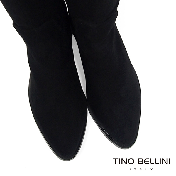 Tino Bellini 經典原色麂皮中跟過膝長靴 _ 黑 FS8510
