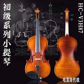 初級小提琴 演奏級小提琴實木手工4/4 歐料專業成人小提琴樂器 zh3421【宅男時代城】