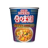 日清合味道酸辣蝦味杯麵74G【愛買】