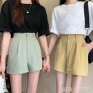 垂感工裝寬管褲休閒褲子女夏季2021新款高腰寬鬆韓版顯瘦a字短褲 蘿莉館品